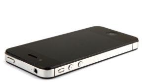 AYTOS, BULGARIA - NOVEMBER 22: Apple New iPhone 4s Isolated On White Background in November 22, 2013